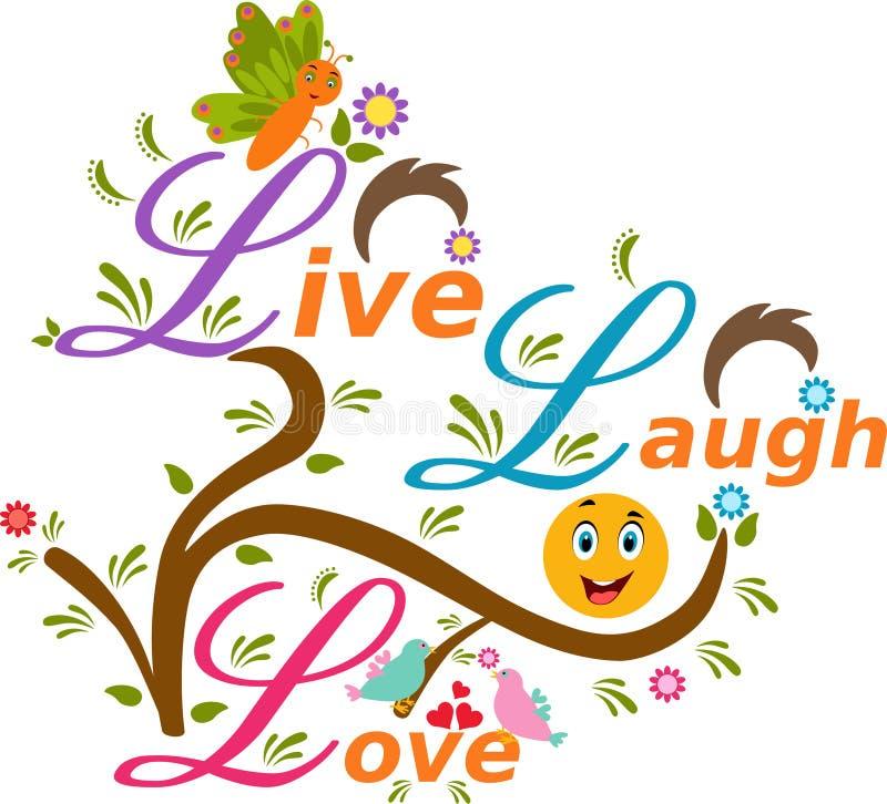 Ilustração de Live Laugh Love ilustração royalty free