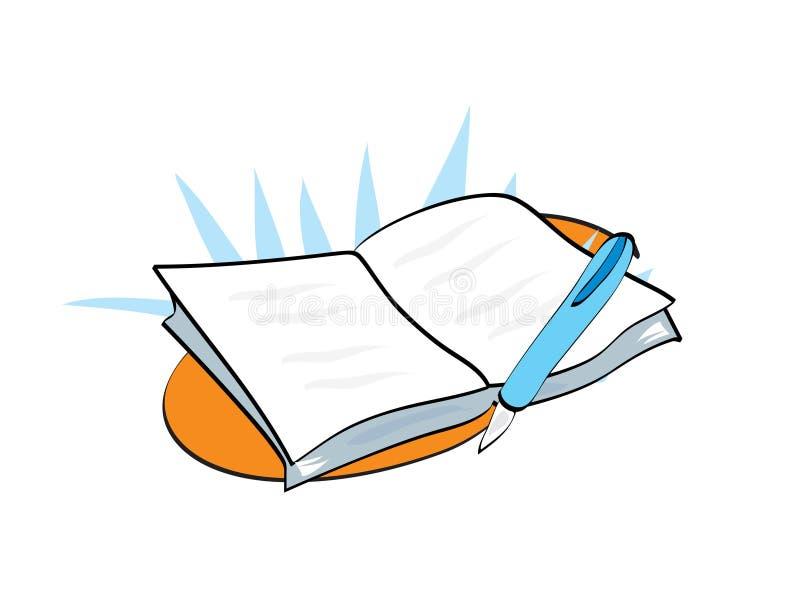 Ilustração de livro ilustração royalty free