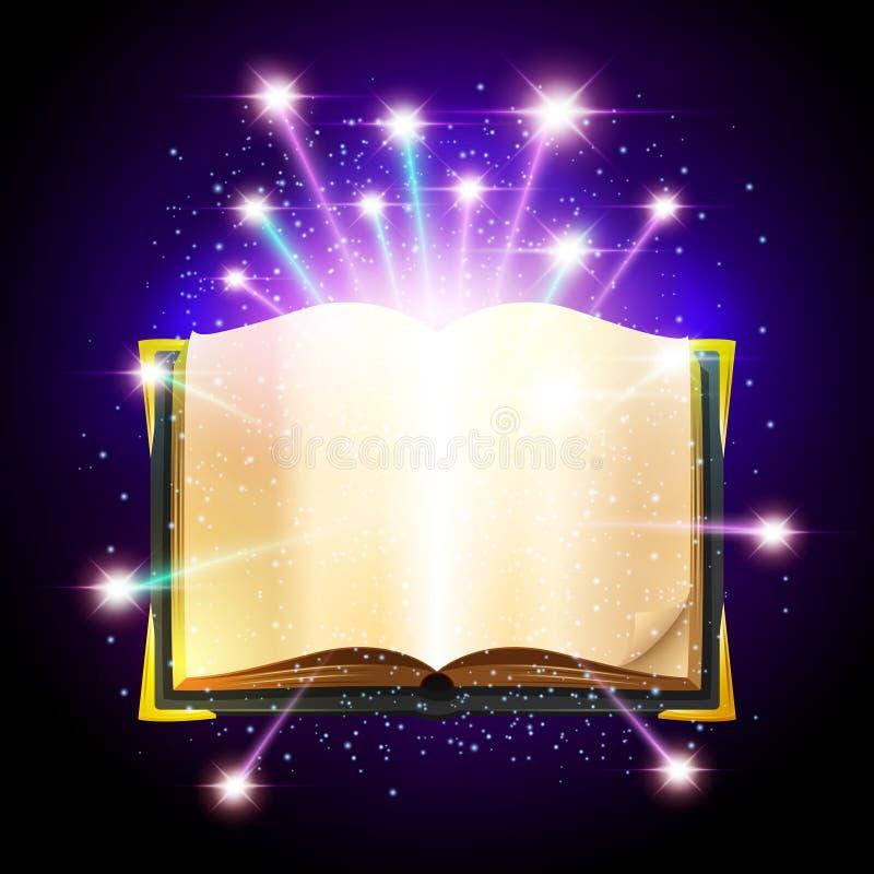 Ilustração de livro mágica ilustração royalty free