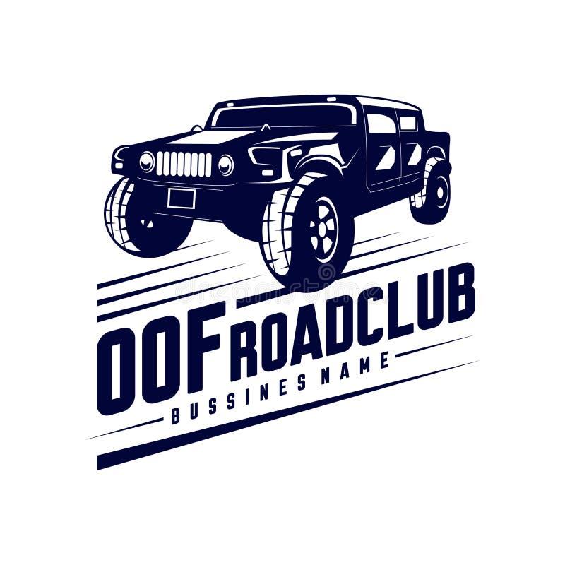 Ilustração de logotipo de carro fora de estrada Modelos de logotipo 4x4 extreme car club fora de estrada Símbolos vetoriais ilustração stock