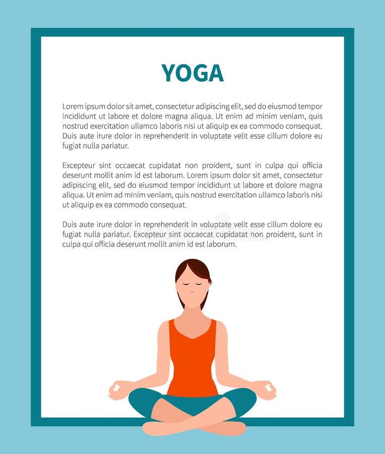 Ilustração de Lotus Pose Banner Frame Vetora da ioga ilustração do vetor