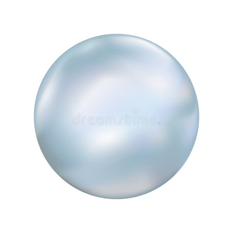 Ilustração de mármore lisa da bola ilustração do vetor