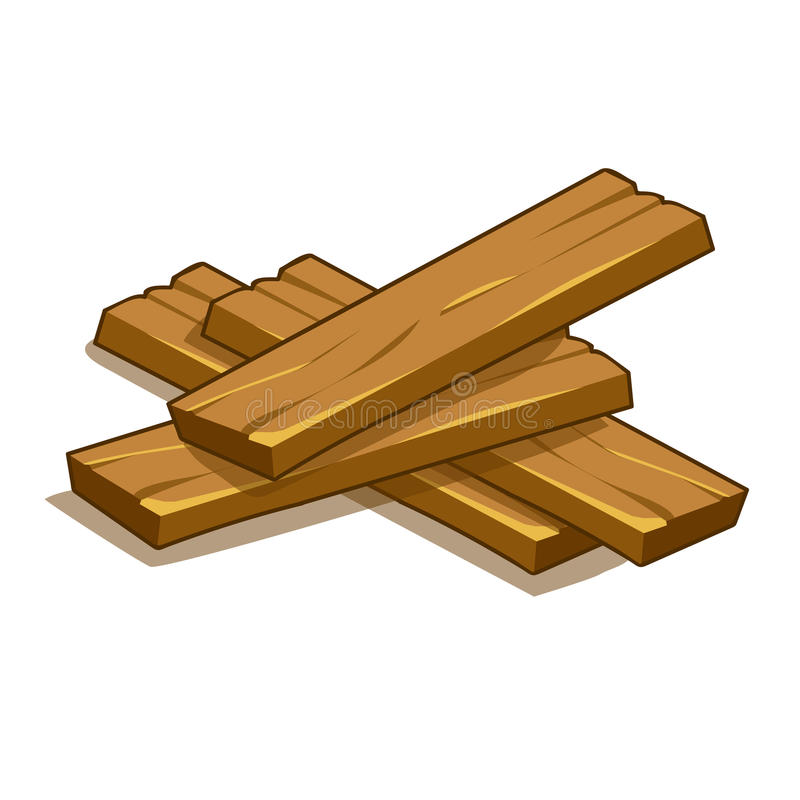 Ilustração de madeira das pranchas ilustração do vetor