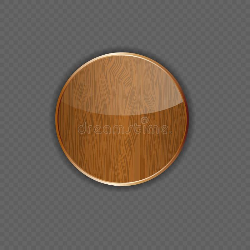 Ilustração de madeira do vetor do ícone da aplicação ilustração stock
