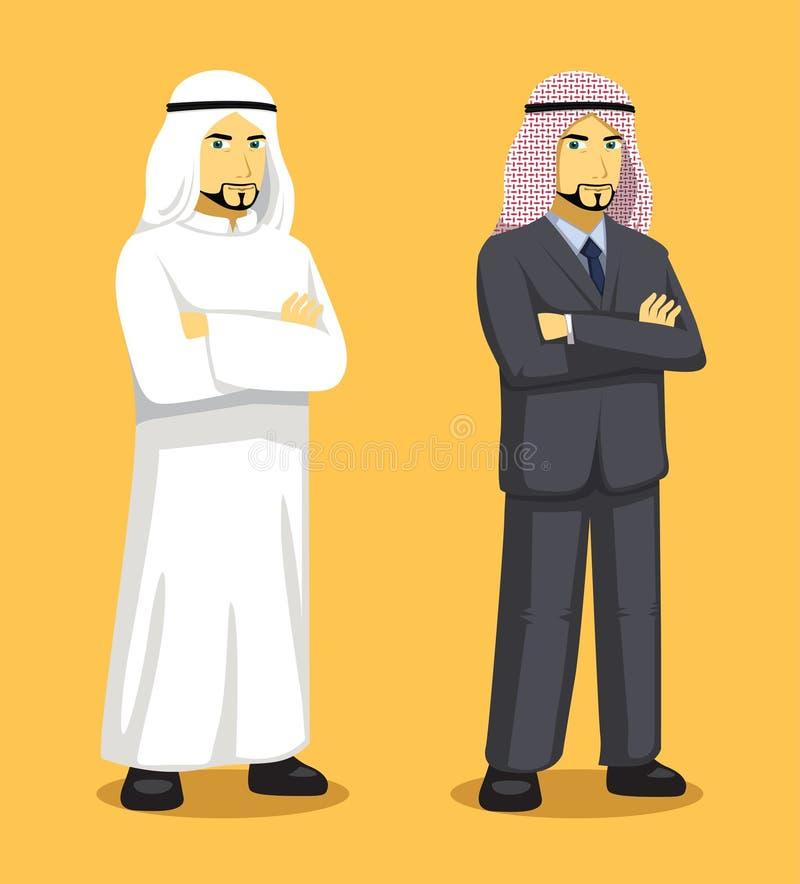 Ilustração de Manga Arab Man Cartoon Vetora ilustração royalty free