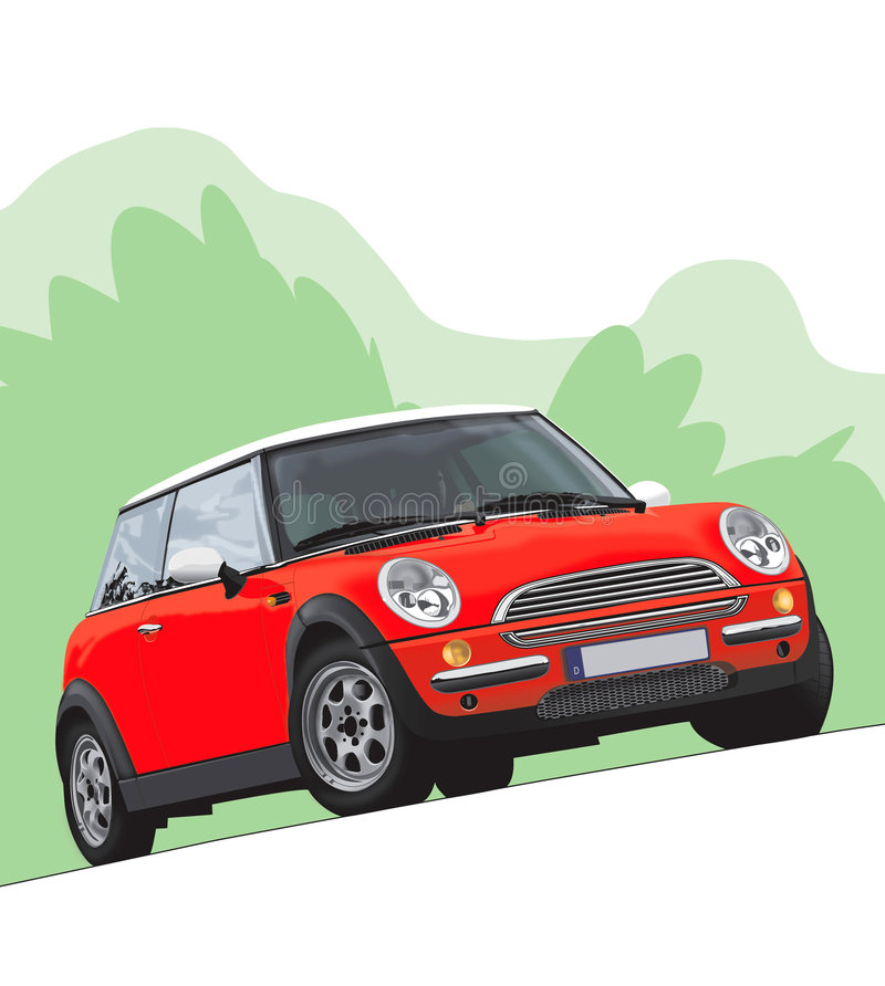 Ilustração de Mini Cooper ilustração royalty free