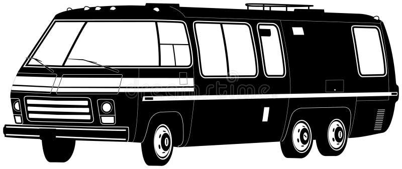 Ilustração de Motorhome ilustração stock
