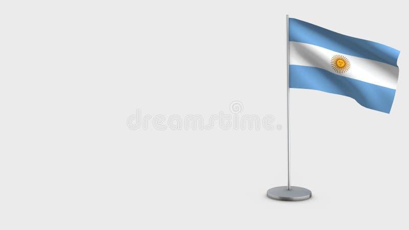 Ilustração de ondulação da bandeira de Argentina 3D ilustração royalty free