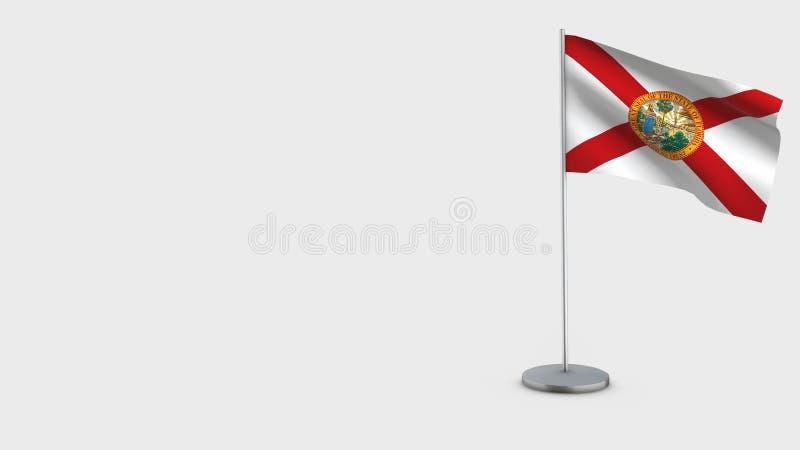 Ilustração de ondulação da bandeira de Florida 3D ilustração royalty free