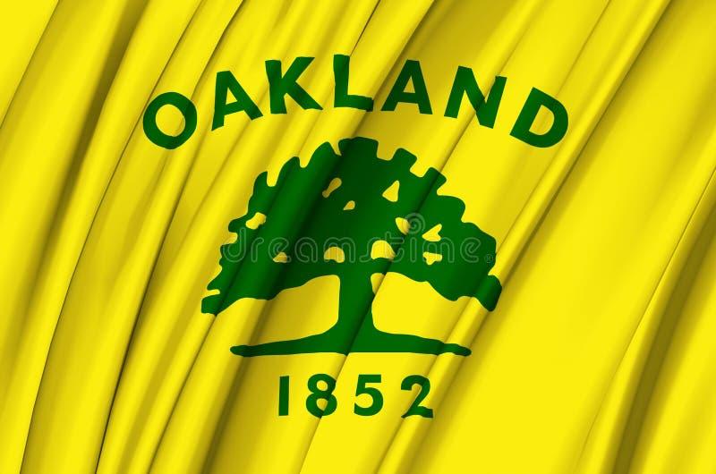 Ilustração de ondulação da bandeira de Oakland Califórnia ilustração royalty free