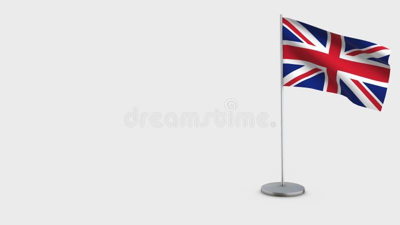 Ilustração de ondulação da bandeira de Reino Unido 3D ilustração royalty free