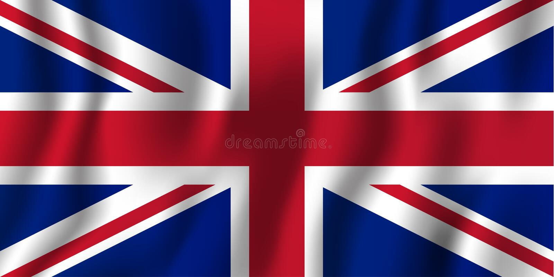Ilustração de ondulação realística do vetor da bandeira de Reino Unido Símbolo nacional do fundo do país Fundo do grunge da indep ilustração do vetor