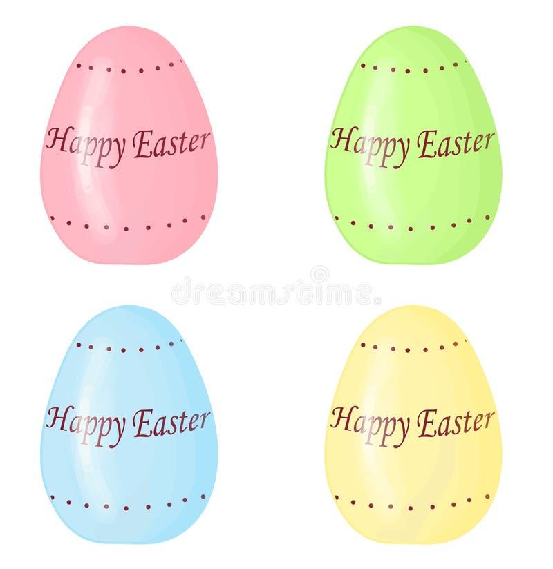 Ilustração de ovos da páscoa isolados no branco imagem de stock royalty free
