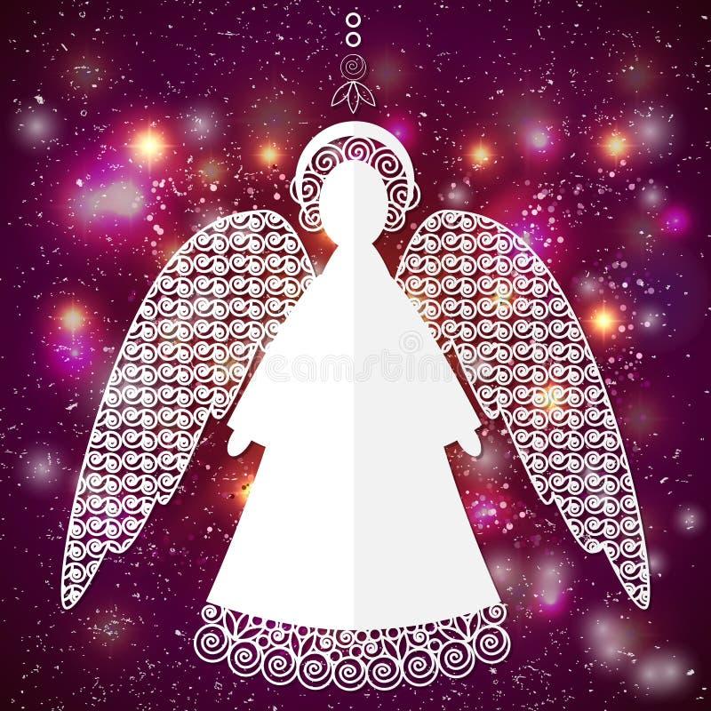 Ilustração de papel do anjo ilustração do vetor
