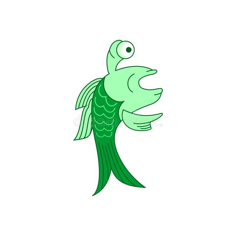 Ilustração de peixes da maravilha ilustração stock