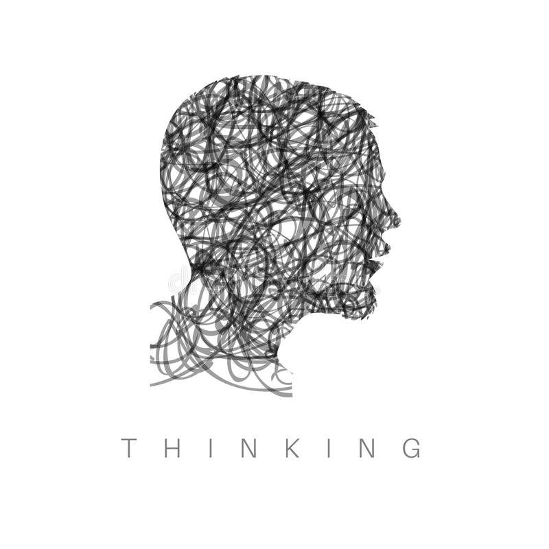 Ilustração de pensamento do conceito ilustração stock