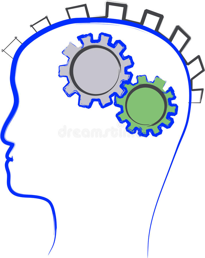 Ilustração de pensamento do homem ilustração do vetor