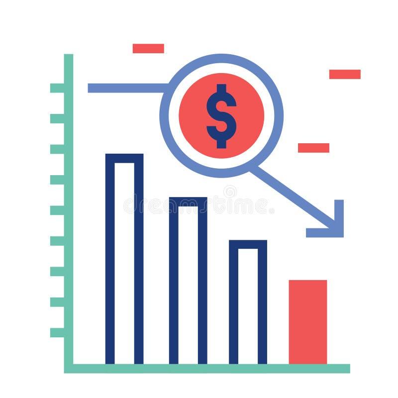Ilustração de pouco peso de FlatOutline do investimento ilustração stock