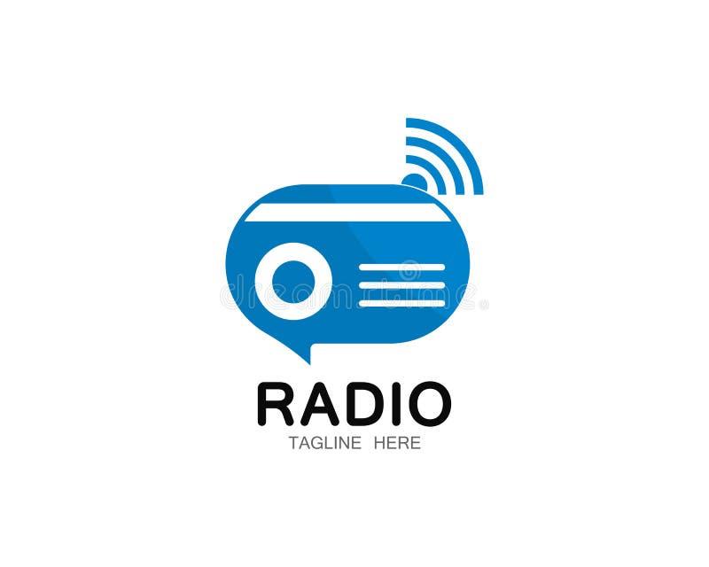 Ilustração de rádio do ícone do vetor do molde do logotipo ilustração do vetor