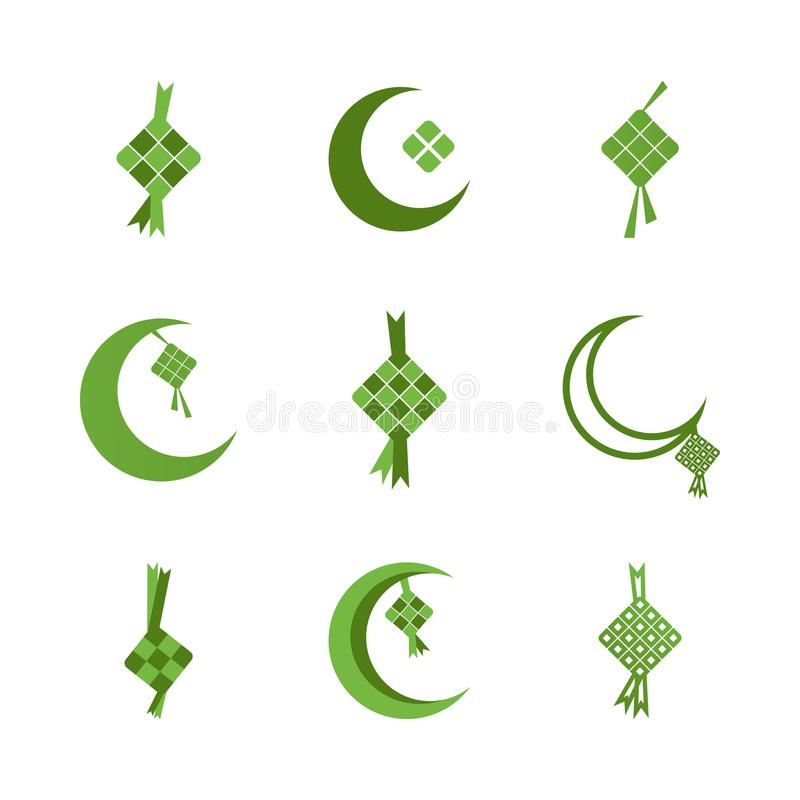 Ilustração de ramadan do fitr do al do eid de Ketupat ilustração royalty free
