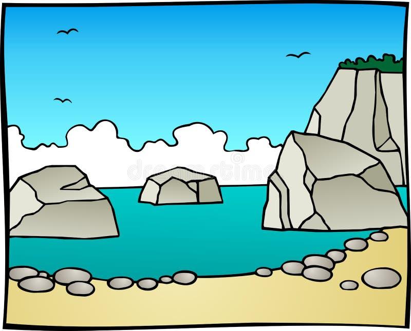 Ilustração de Rocky Seaside ilustração do vetor