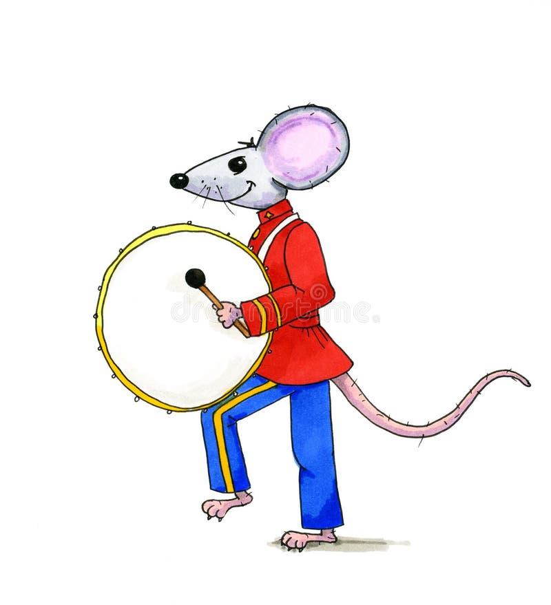 Ilustração de rufar o rato ilustração royalty free