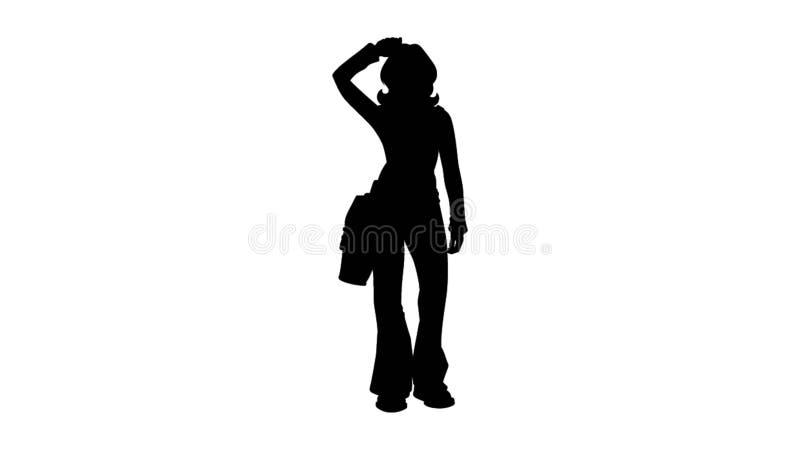 Ilustração de saída da mulher ilustração royalty free