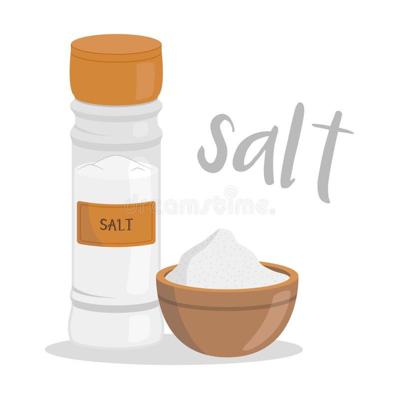 Ilustração de sal do vetor isolada no estilo dos desenhos animados ilustração stock