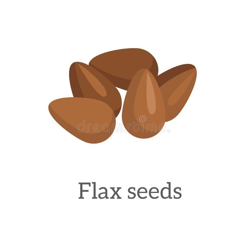 Ilustração de sementes de linho ilustração do vetor