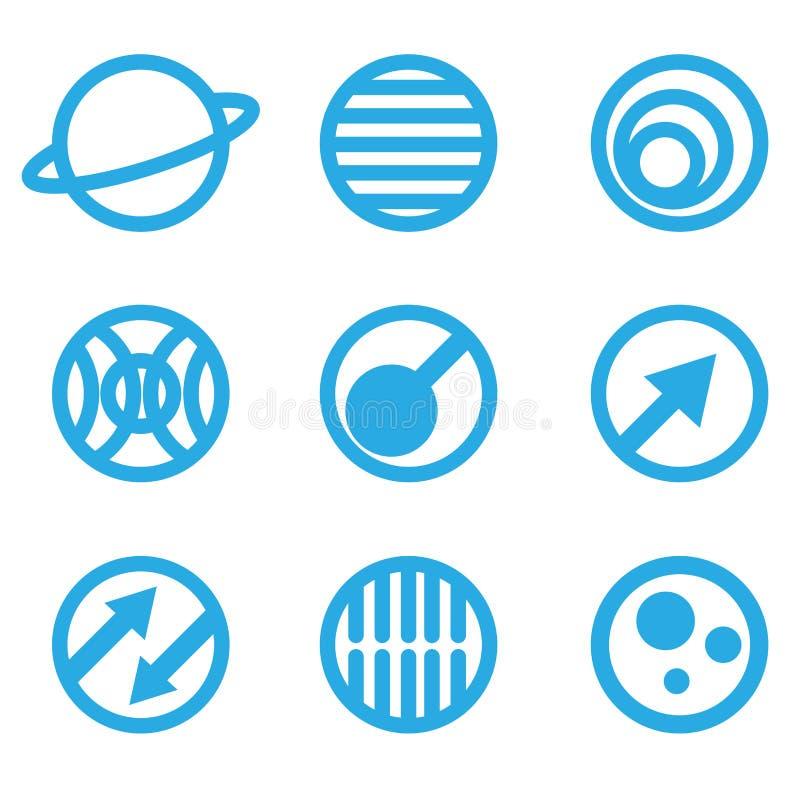 Ilustração de sinais azuis abstratos ilustração royalty free