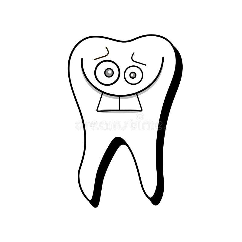 Ilustração de sorriso do vetor do dente saudável branco no fundo branco ilustração do vetor