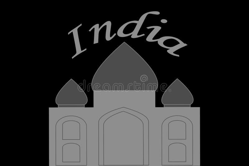 Ilustração de Taj Mahal na Índia ilustração stock