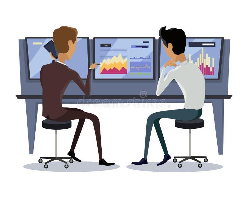Ilustração de troca em linha moderna da tecnologia ilustração stock