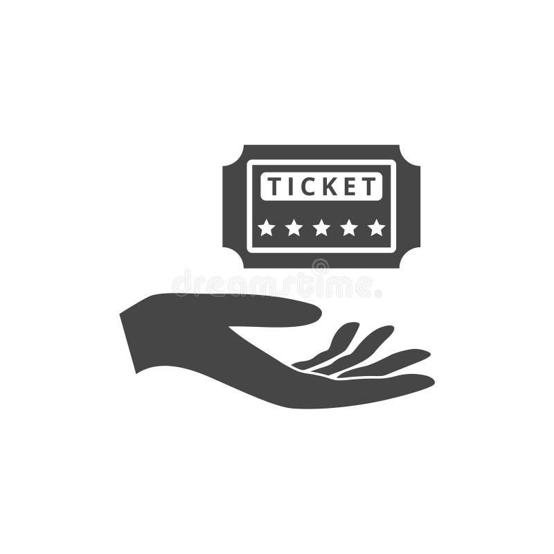 Ilustração de um bilhete de oferecimento da mão ilustração stock