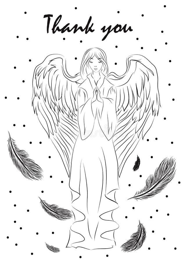 Ilustração de um cartão para o dia da ação de graças ilustração stock