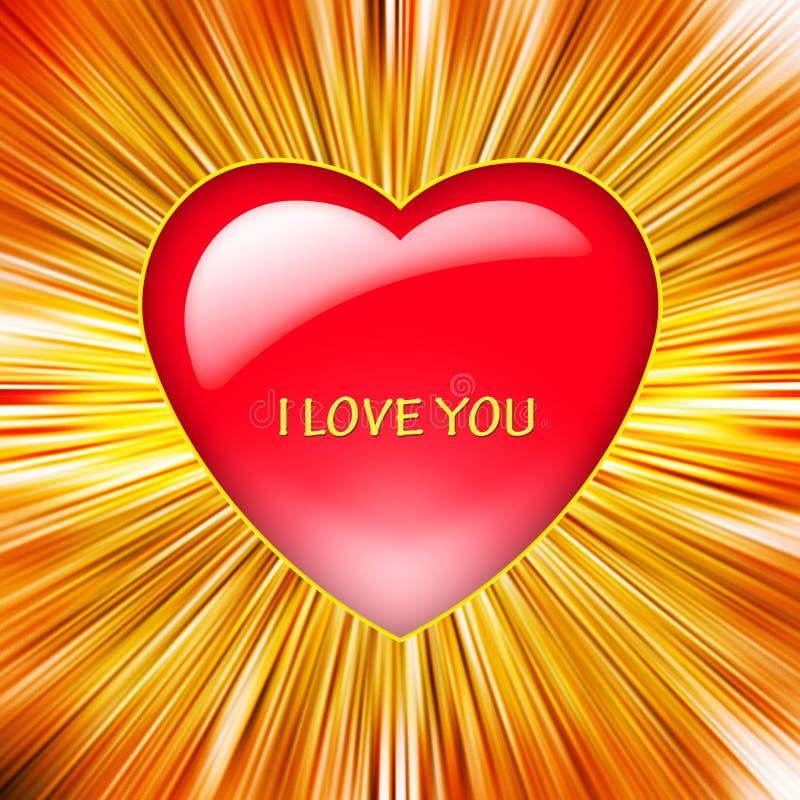 Ilustração de um coração vermelho ilustração royalty free