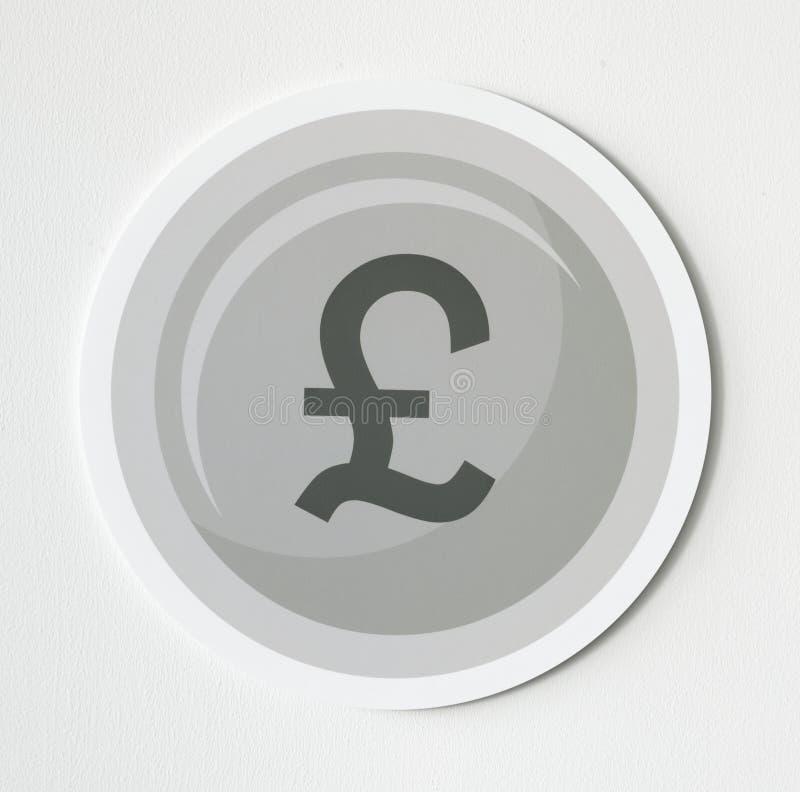 Ilustração de um dólar do bitcoin no cinza ilustração do vetor