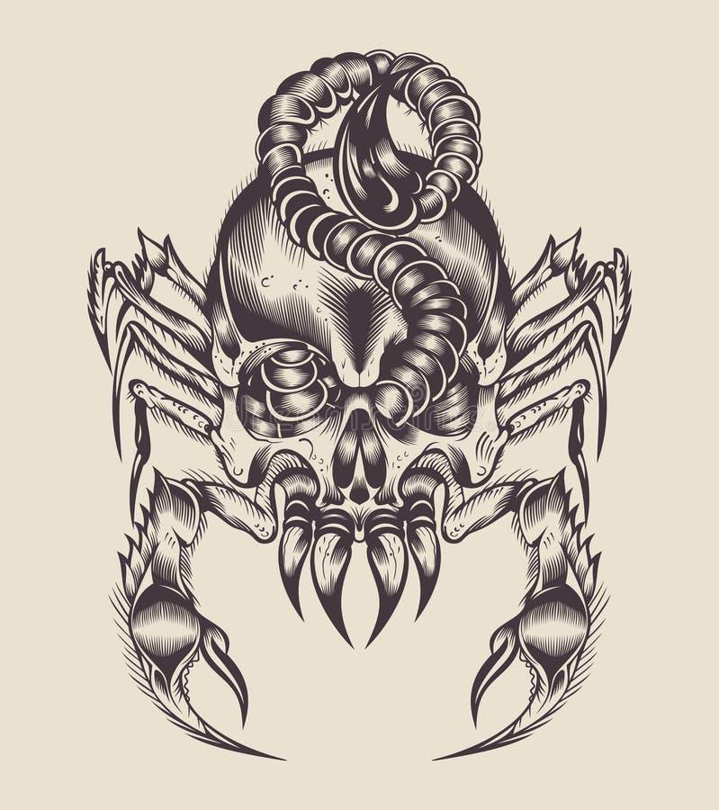 Ilustração de um escorpião do monstro ilustração stock