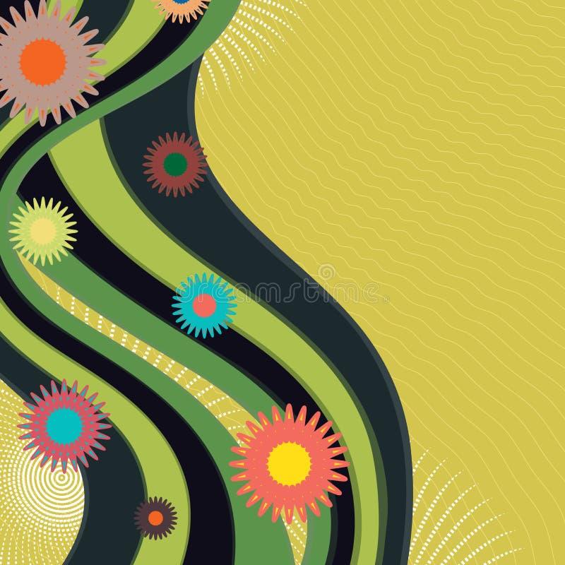 Download Fundo da onda verde ilustração do vetor. Ilustração de colorido - 29826022