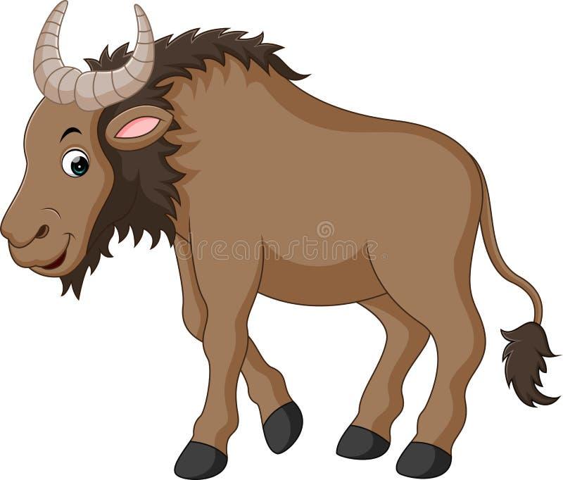 Ilustração de um gnu ilustração stock