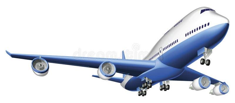 Ilustração de um grande avião comercial ilustração royalty free
