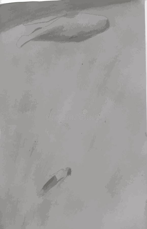 Ilustração de um homem e de um mergulho da baleia Natação meditativo ilustração do vetor