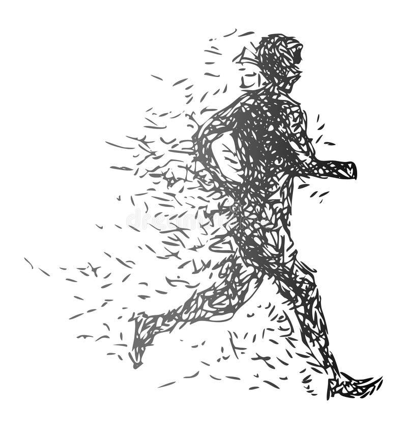 Ilustração de um homem running ilustração royalty free