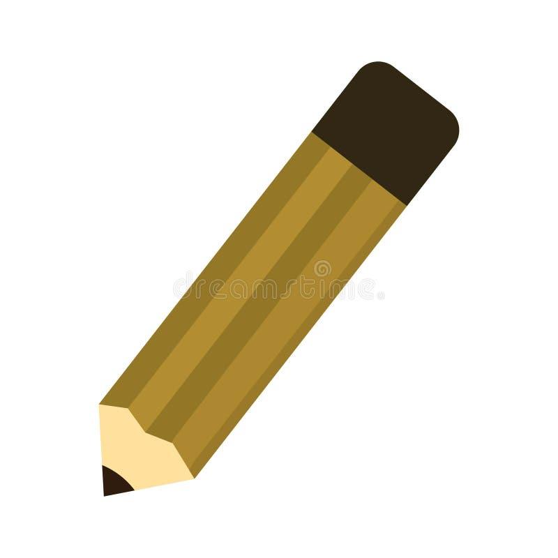 Ilustração de um lápis Ilustração do lápis da mascote ilustração royalty free