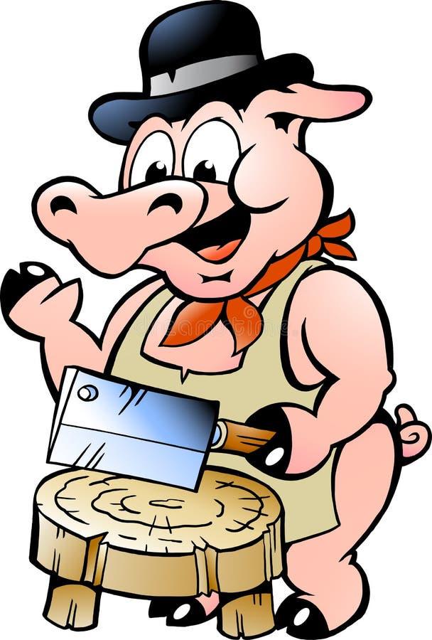 Ilustração de um porco do carniceiro ilustração do vetor