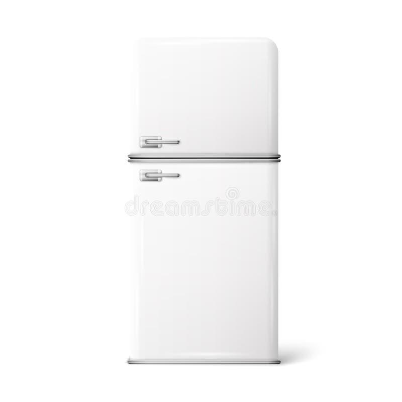 Ilustração de um refrigerador retro ilustração royalty free