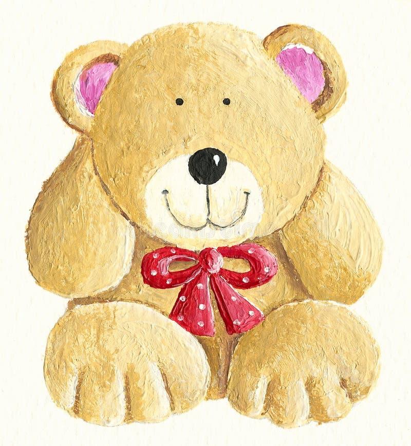 Ilustração de um urso de peluche bonito pequeno ilustração do vetor
