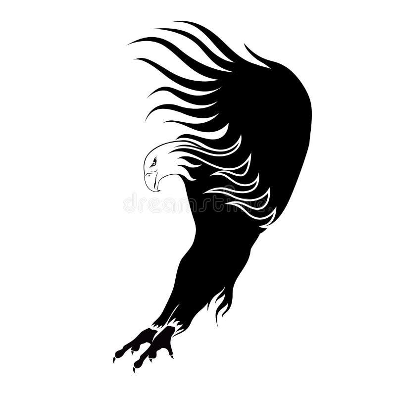 Ilustração de um vôo da águia ilustração stock
