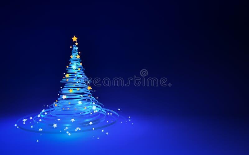 Ilustração de uma árvore de Natal imagem de stock