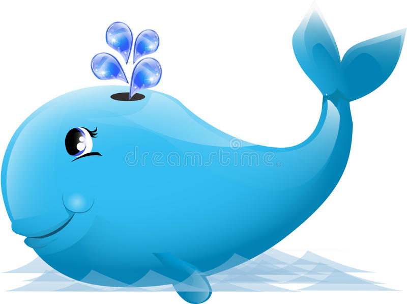 Ilustração de uma baleia bonito ilustração stock